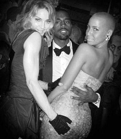 Madonna, Kanye West in Amber Rose