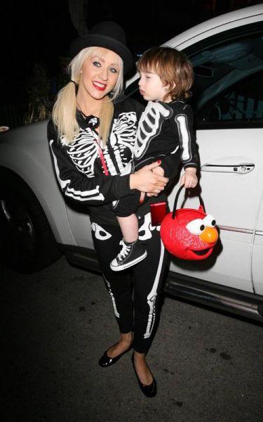 Christina Aguilera s sinčkom Maxom