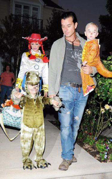Gwen Stefani z družino