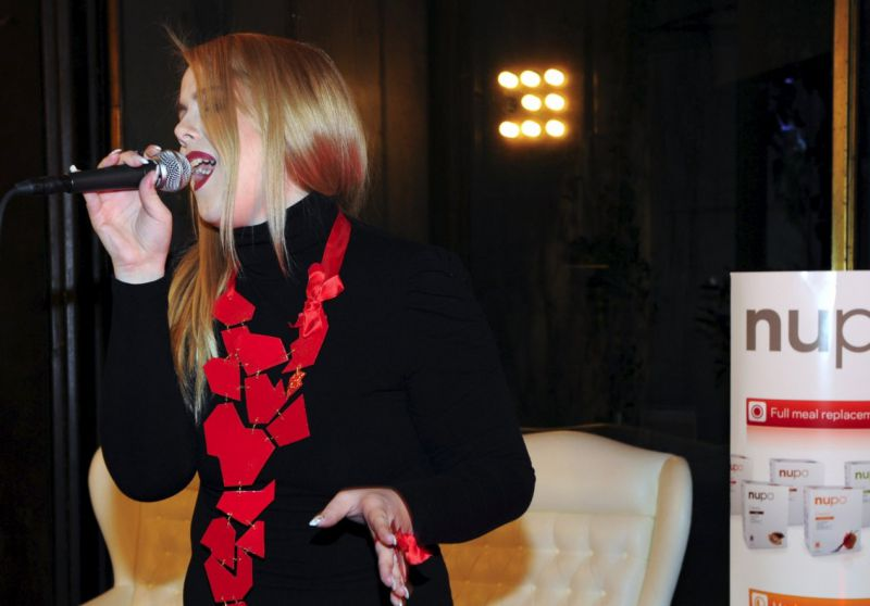 Nupo kandidatka iz akcije »Do minus 15 kg v 60 dneh«  in energična tekmovalka Misije Evrovizije Tamara Goričanec.