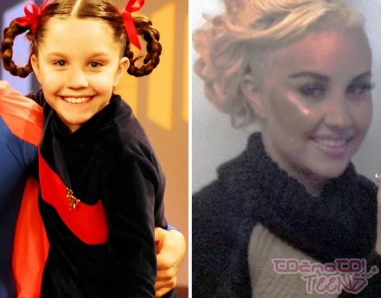 Amanda Baynes leta 1997 in danes.