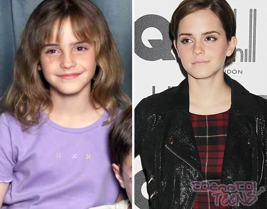Emma Watson leta 2000 in danes.