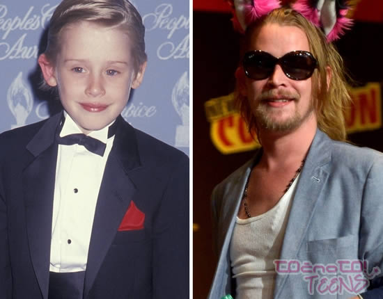 Macaulay Culkin leta 1991 in danes.