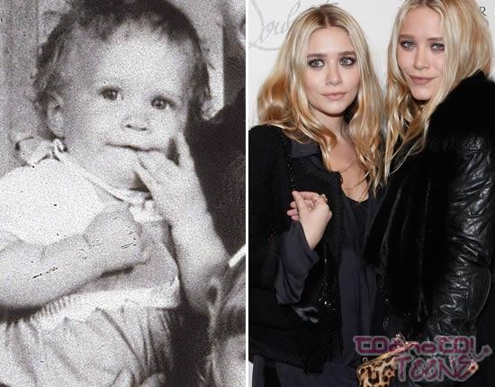Mary-Kate in Ashley Olsen leta 1997 in danes.