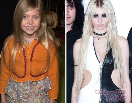 Taylor Momsen leta 2000 in danes.